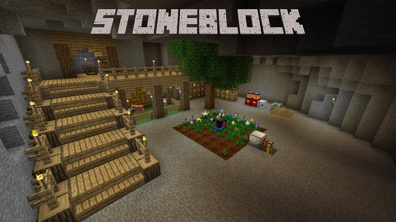 StoneBlock Server Hosting Rental | StickyPiston Hosting