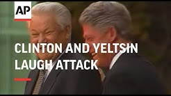President Clinton and Boris Yeltsin laugh attack