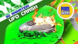 Green Screen UFO Crash Caught on Tape Fire Smoke - Footage PixelBoom
