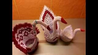 Origami 3d Swan In Steps