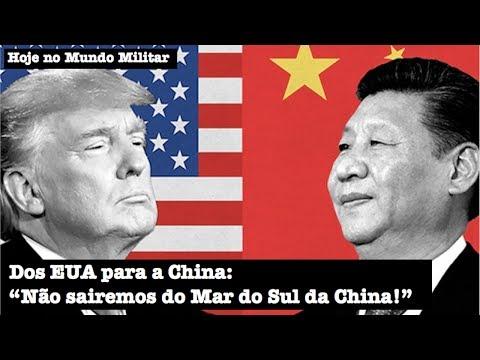 """Dos EUA para a China: """"Não sairemos do Mar do Sul da China!"""""""