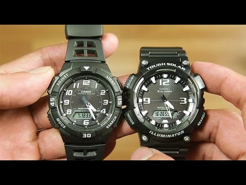 2 Tough solar watch : Casio AQ-S800W-1BV VS Casio AQ-S810W-1AV