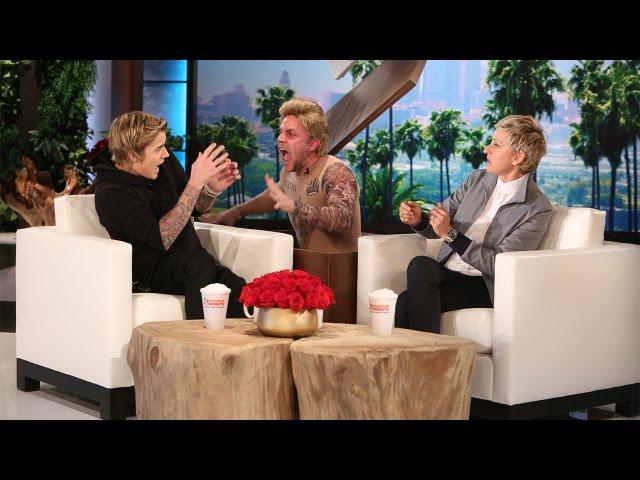 Ellen Scares Justin Bieber