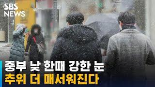 [날씨] 중부 낮 한때 강한 눈…추위 더 매서워진다 / SBS