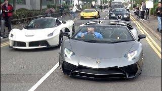 London Supercar INSANITY at Cars and Coffee - IPE Aventador, Singer Drift, 12 Zondas, C63 Burnout