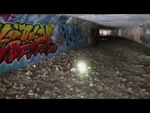 Exploring A Large Graffiti Filled Tunnel In Ottawa