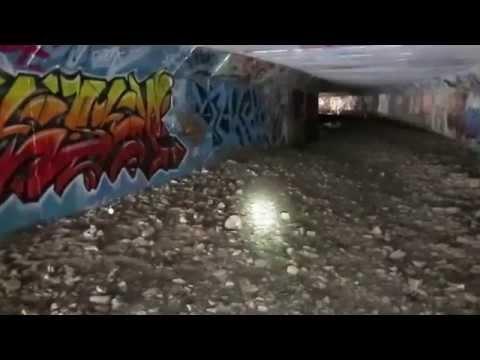 Exploring A Large Graffiti Filled Tunnel In Ottawa