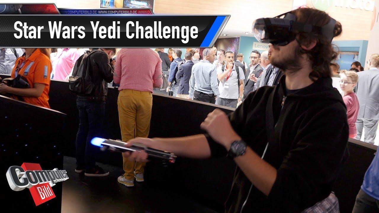 Star Wars Yedi Challenge: AR-Brille mit Lichtschwert - YouTube