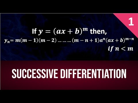 Nth Derivative Of Standard Functions  Part 1