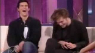I love your laugh Taylor. I love you. ^^ the song is Bad Boy by Cas...