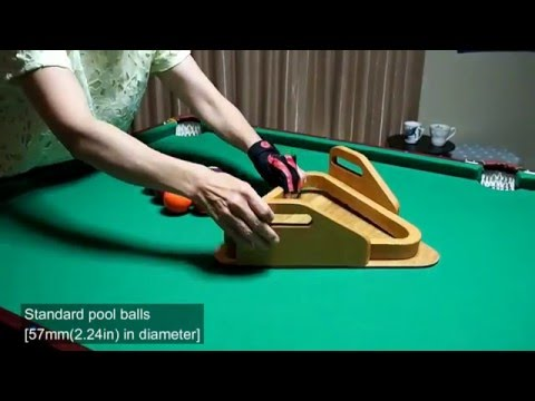 How to enjoy playing pool(billiard) game in a small room.(家庭でビリヤードを楽しむ方法)