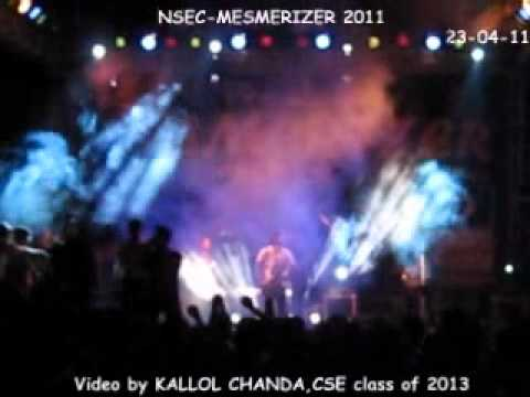 Gole Male(Bengali Rock) in NETAJI SUBHASH ENGINEERING COLLEGE`s Mesmerizer`11(Day-2).wmv