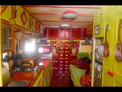 """Odessa"" The Ukulele Tiny House- RV Makeover by touring Musicians-"