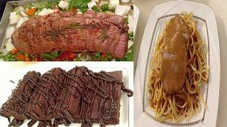 المطعم مع الشيف محمد حامد   طريقة عمل عرق اللحمة الباردة - مكرونة باللحمة الباردة - براونيز