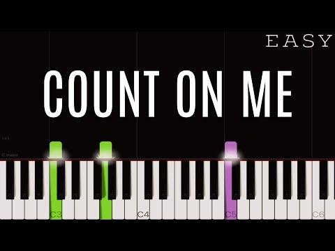 Bruno Mars - Count On Me | EASY Piano Tutorial