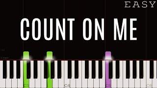 Baixar Bruno Mars - Count On Me | EASY Piano Tutorial