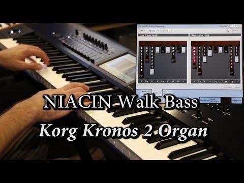 Korg Kronos 2 Organ - Niacin Walk Bass