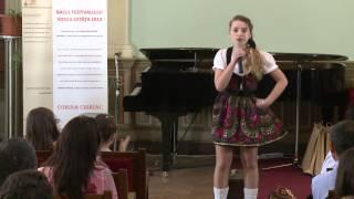 VOCEA CETATII SIGHISOARA Bacila Ilinca Maria 15-18 ani  Ardelean Show TROFEUL FESTIVALULUI
