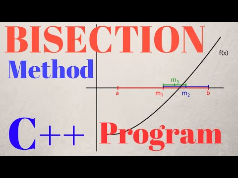 BISECTION METHOD - C++ PROGRAM with ALGORITHM EXPLAINED