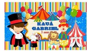 preparativos  niver kauã 3 anos  tema circo  part 4 lembrancinha mulheres