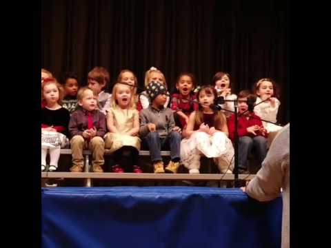 Hand gestures galore: Josie sings Up On The Housetop (Christmas Concert)