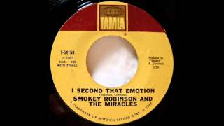 Smokey Robinson. I Second That Emotion.