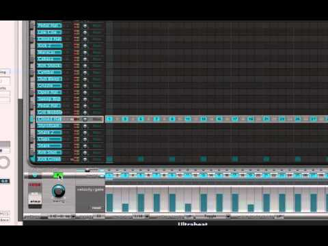 Logic Pro 9 - Step Sequencing in Ultrabeat