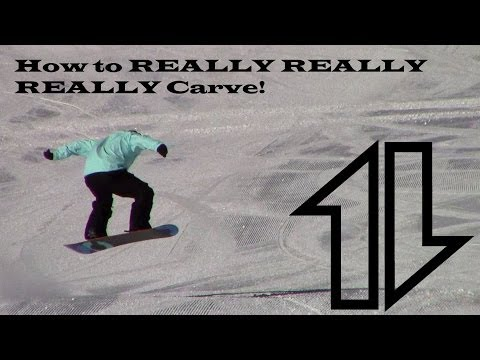 How to really really really carve a snowboard.  Pt #1.