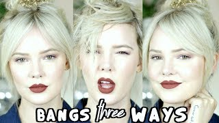 HOW TO DRY AND STYLE BANGS THREE WAYS | GIVEAWAY