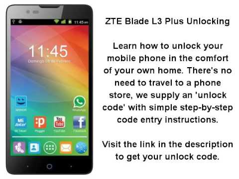 Unlock ZTE Blade L3 Plus - SIM Network Unlock PIN