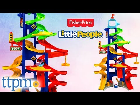 Little People Wheelies City Skyway Car Race Tracks Review | Fisher-Price Toys