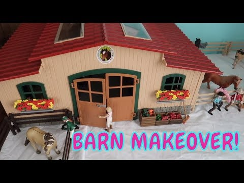 💖Schleich Horse Barn MAKEOVER! 🐎Cleaning My Schleich Horse Stables!🐴First Day TV
