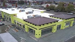 Retail Construction Project - Strip Mall, Time Lapse Video