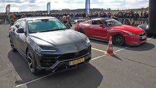 Lamborghini Urus vs Nissan GT-R R35 - DRAG RACE!