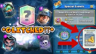 FREE LEGENDARY GLITCH?????!!! *HACKED* Clash Royale Double Elixir Draft Challenge