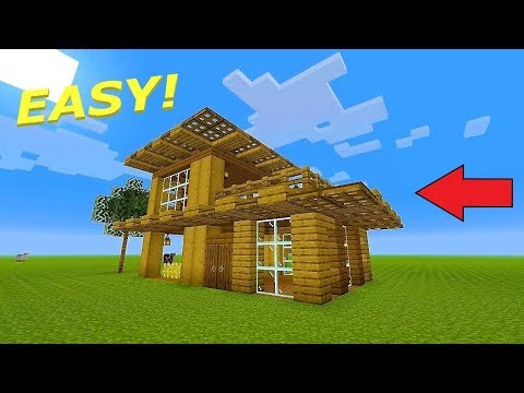 Minecraft: Wooden Survival House Tutorial (EASY)