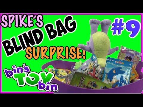 Spike's Blind Bag Surprise #9! My Little Pony Rings, TMNT, Spongebob, & Imaginext! By Bin's Toy Bin