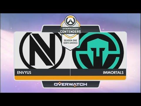 EnVyUs vs Immortals (Part 1) | OW Contenders Season One: North America