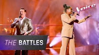 The Battles: Jonathon Welch v Angela Fabian 'Stand By Me' | The Voice Australia 2020