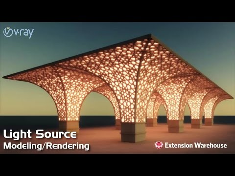 Light source - Modeling/Rendering | SketchUp | V Ray