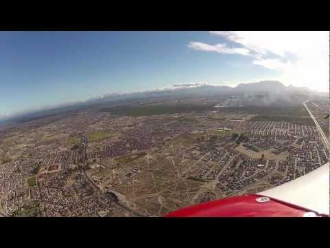 Flight to Cape Town and landing at Cape Town airport