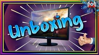 unboxing monitor led 24 aoc gamer sniper g2460vq6 widescreen full hd 1ms 75hz nº935