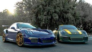 Porsche GT3 RS vs 911R!