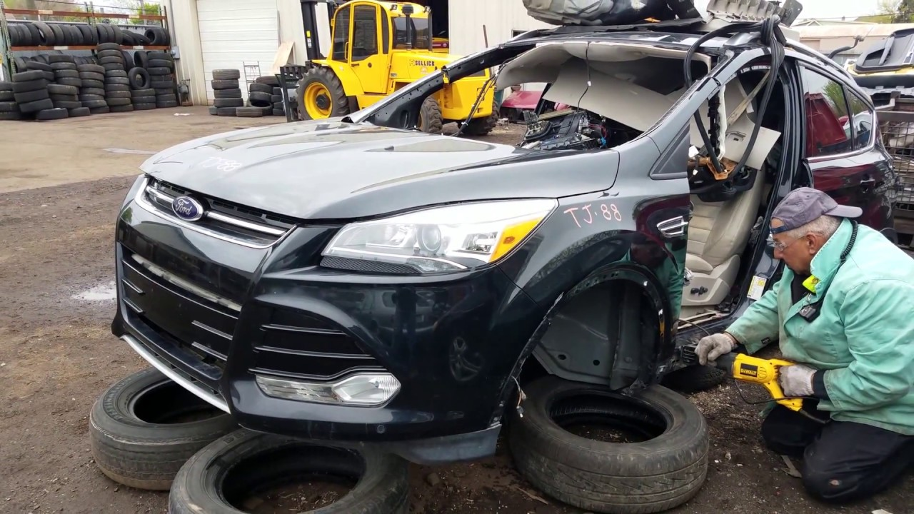 2014 Ford Escape Titanium removing front end assembly ...