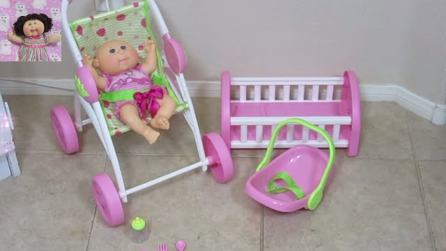 Cabbage Patch Kids Play N Travel Cuddlers Stroller Crib