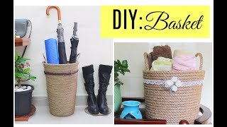 Diy Basket for home decor/ storage baskets for bathroom and outdoor accessories