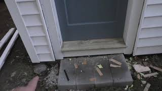 BBISHOPPCM Buys A House - MORE exterior door repairs, and new exterior lighting!
