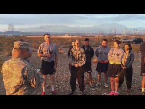 Delta Company 405th Civil Affairs Battalion March BTA APFT