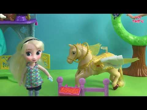 Disney Princess Full Episodes in English! Elsa Anna Barbie Snow White Belle + More! Toys Movie!