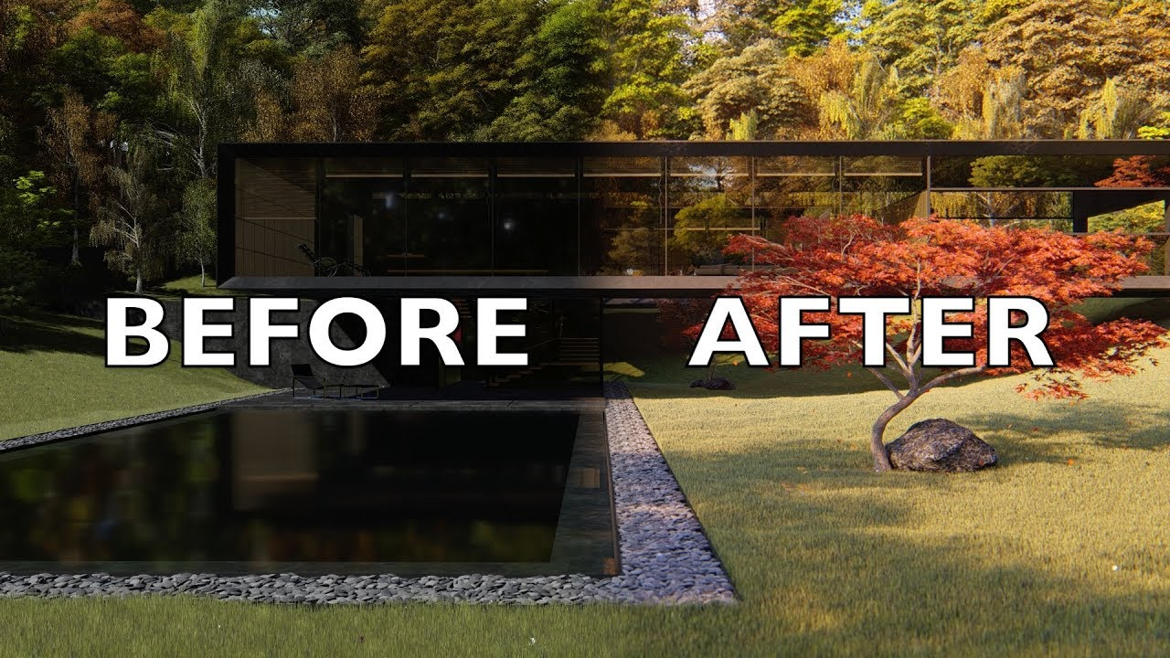 Lumion 8 Pro Before After Render Settings Tutorial Japanese